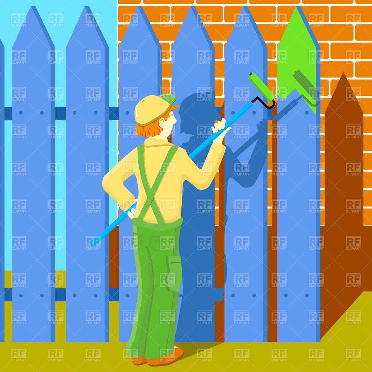 Painter Vector Image #1848.
