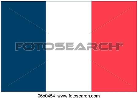 Clipart of france 1848 flag 06p0454.