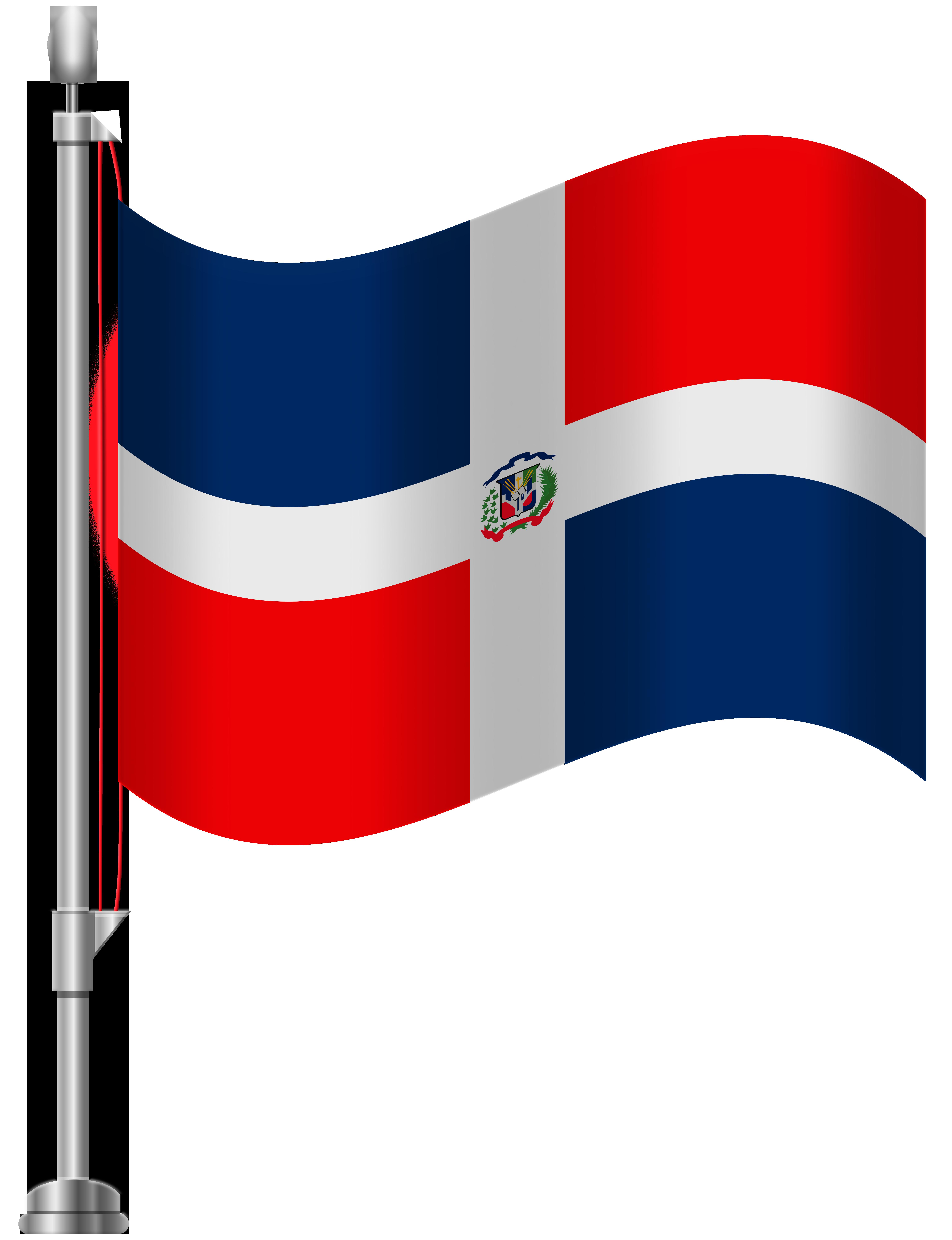 Dominican Republic Flag PNG Clip Art.
