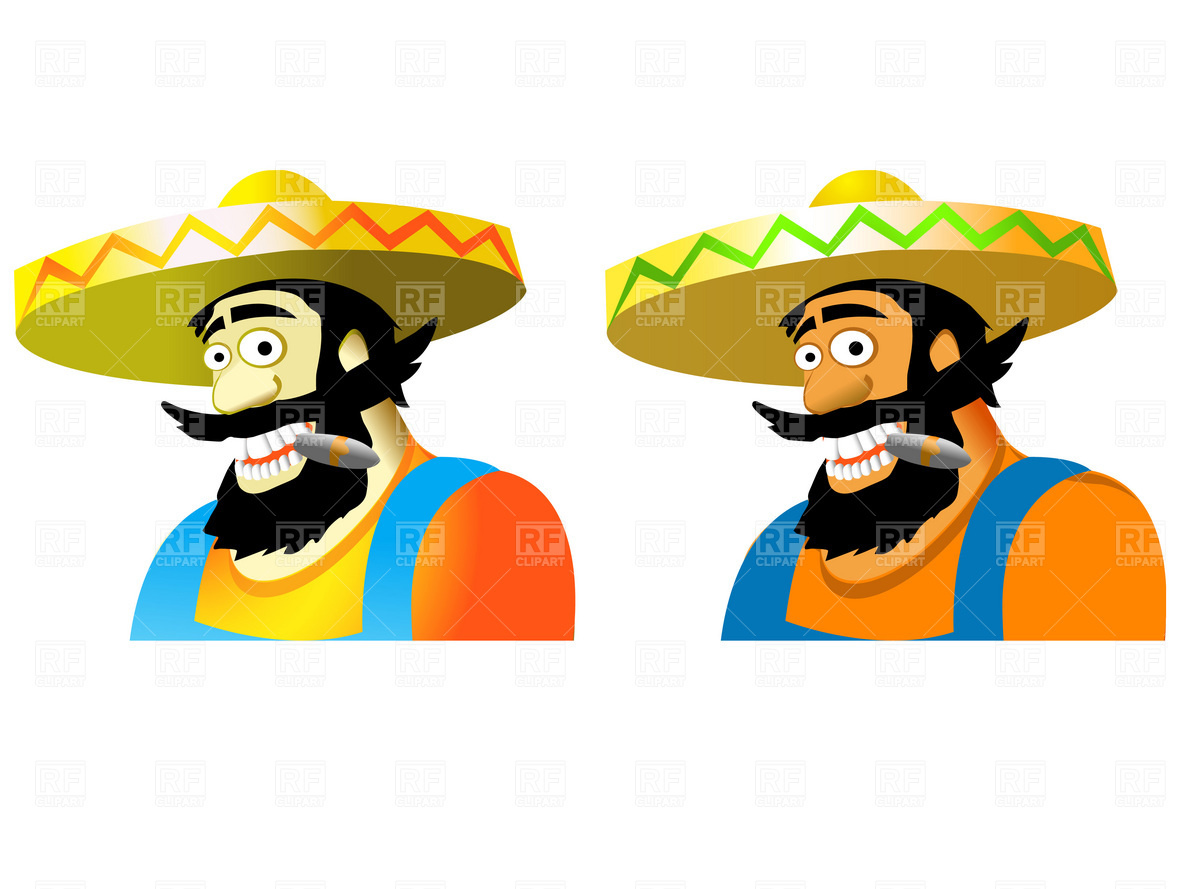 Mexican in sombrero Vector Image #1850.
