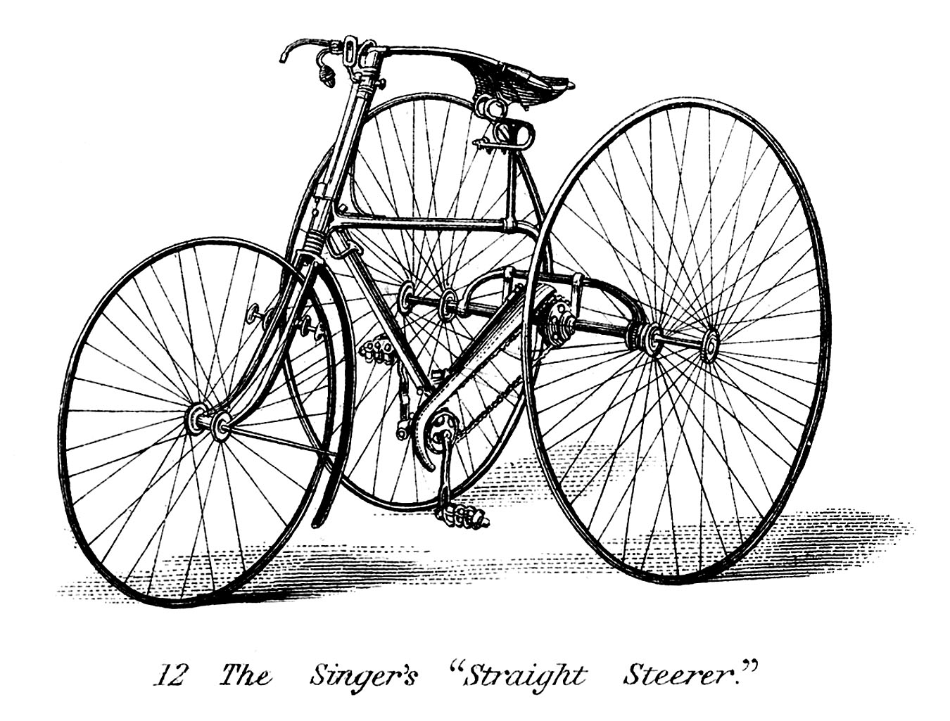Vintage Clip Art Early Bicycle.