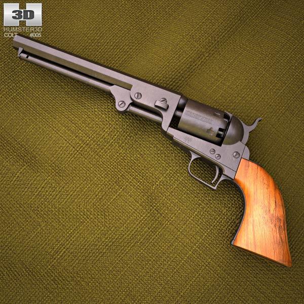 Colt 1851 Navy Revolver 3D model.