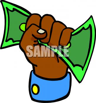 Money In Hand Clipart.