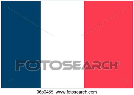 Clipart of france 1853 flag 06p0455.