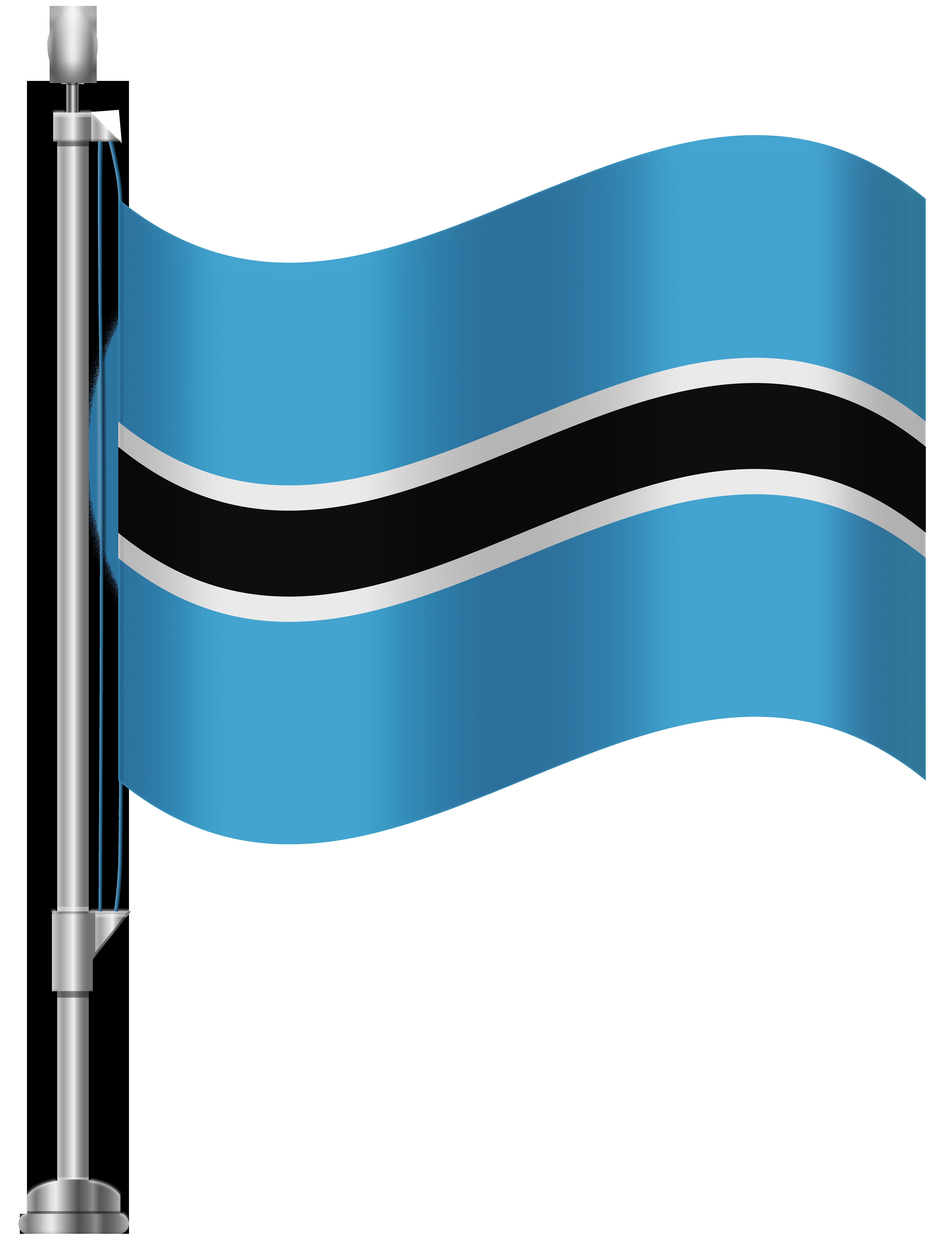 Botswana Flag PNG Clip Art.