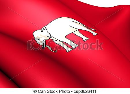 Clipart of Flag of Thailand (1855.