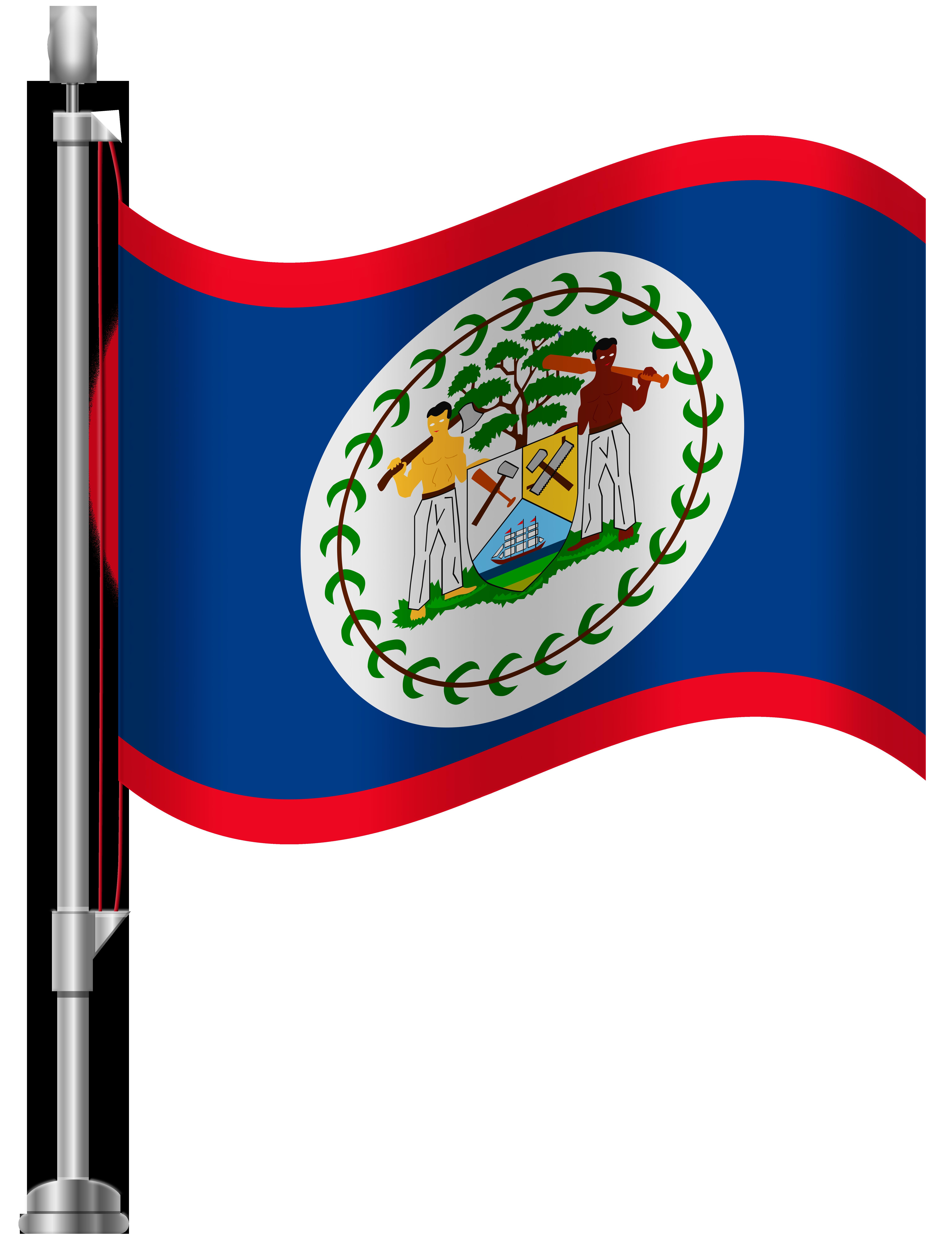 Belize Flag PNG Clip Art.