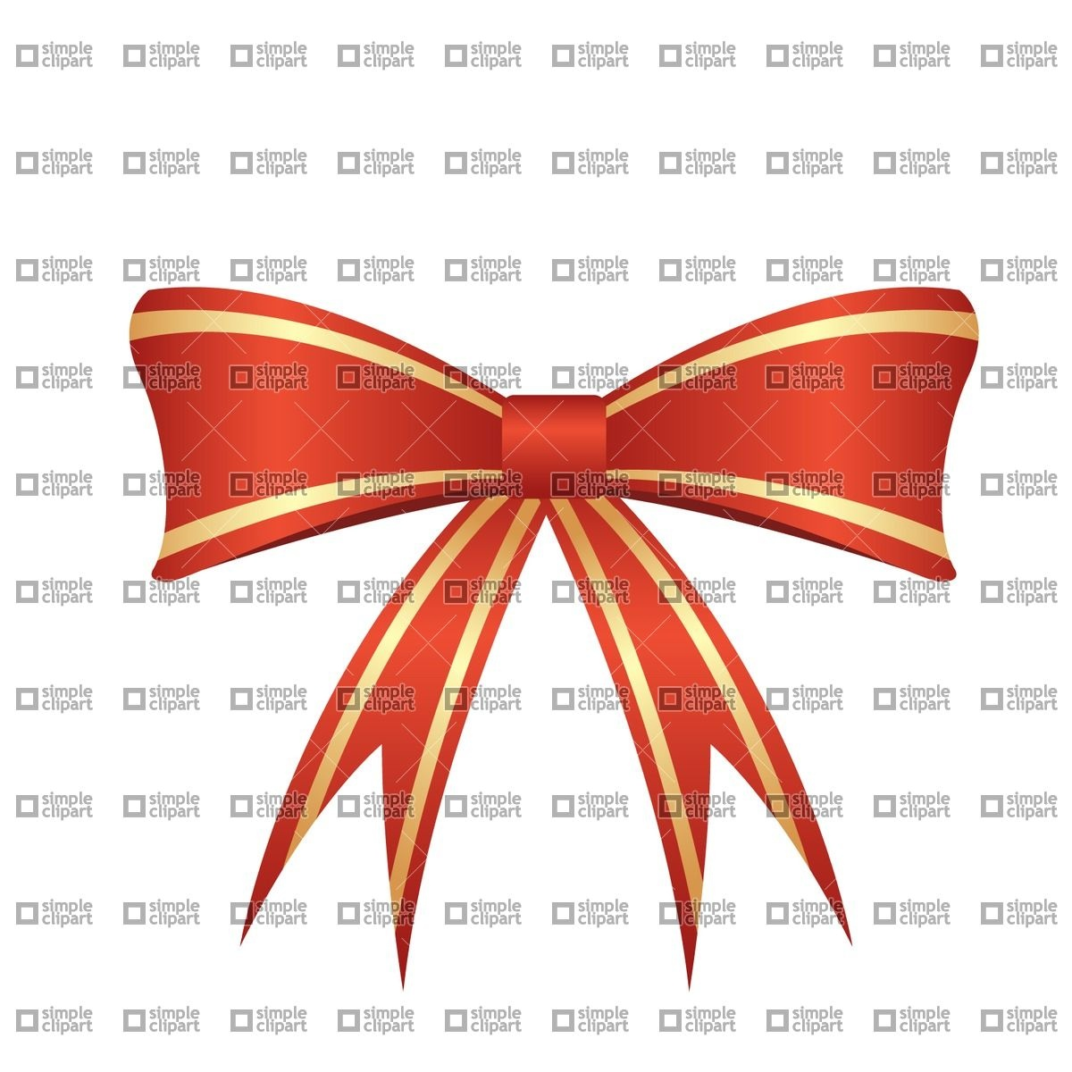 Red bow Vector Image #1855.