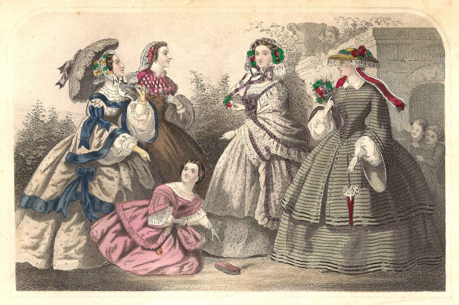 Antique Images: Victorian Fashion Clip Art: 4 Victorian 1859.