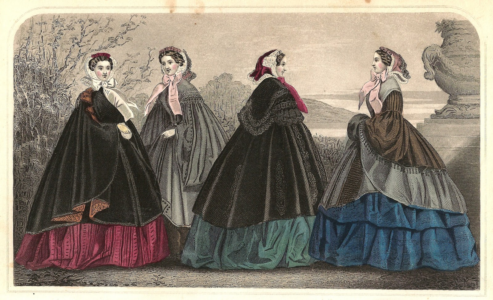 Antique Images: Free Fashion Clip Art: Women's Victorian Dress.