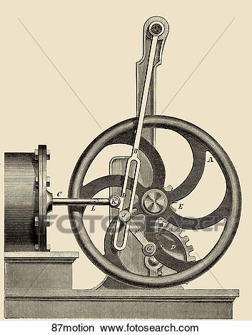 Drawings of Antique Illustration (wood engraving) of a device for.