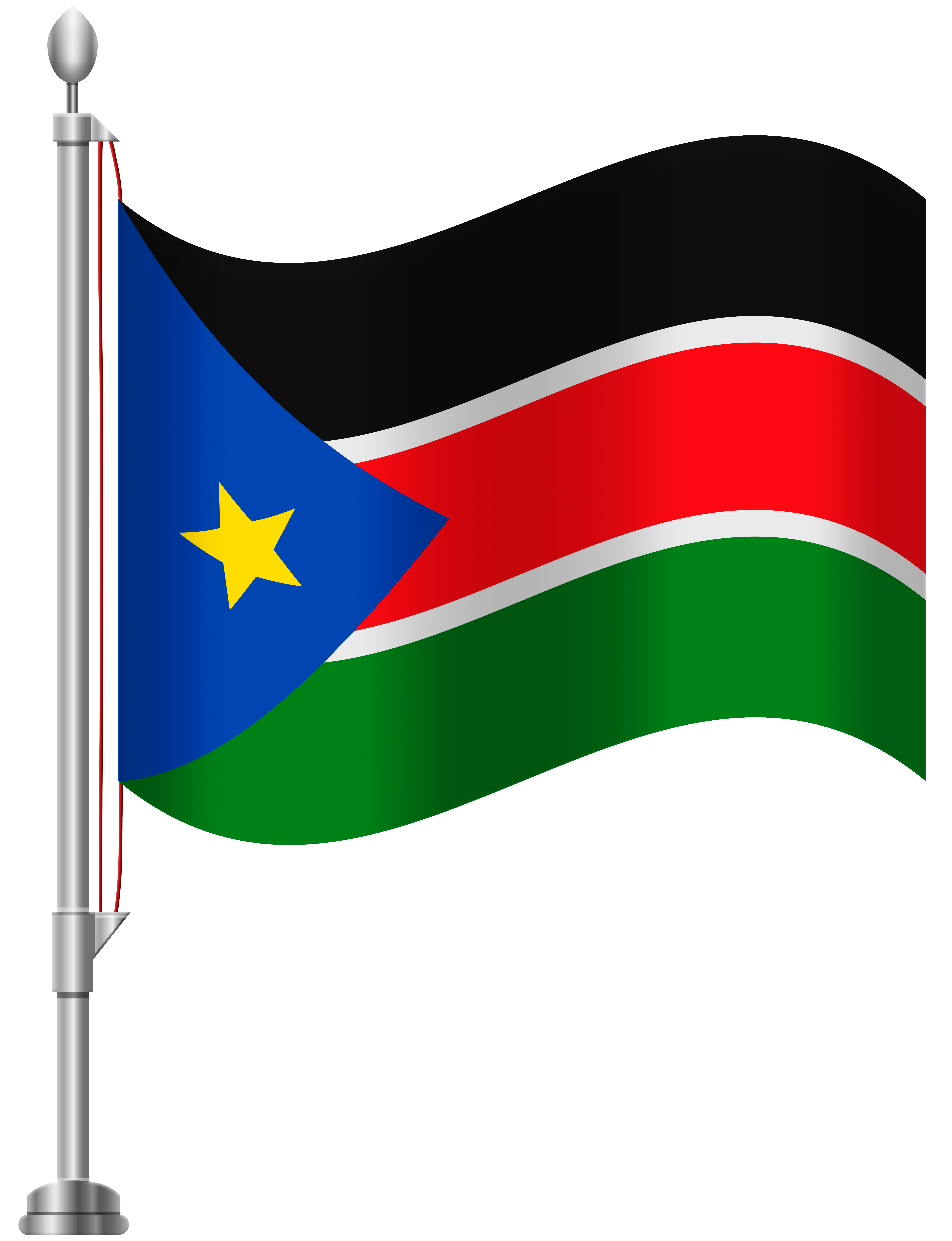 South Sudan Flag PNG Clip Art.