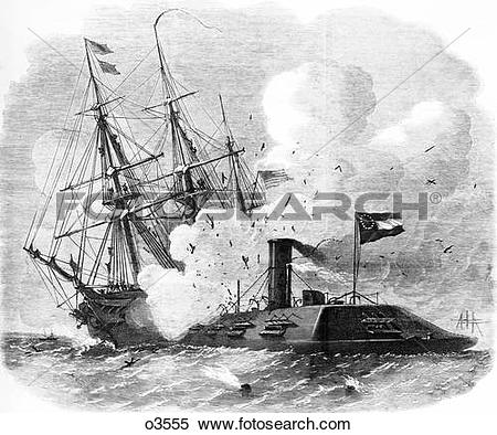 Stock Image of 1800S 1860S March 8 1862 Uss Cumberland Being.