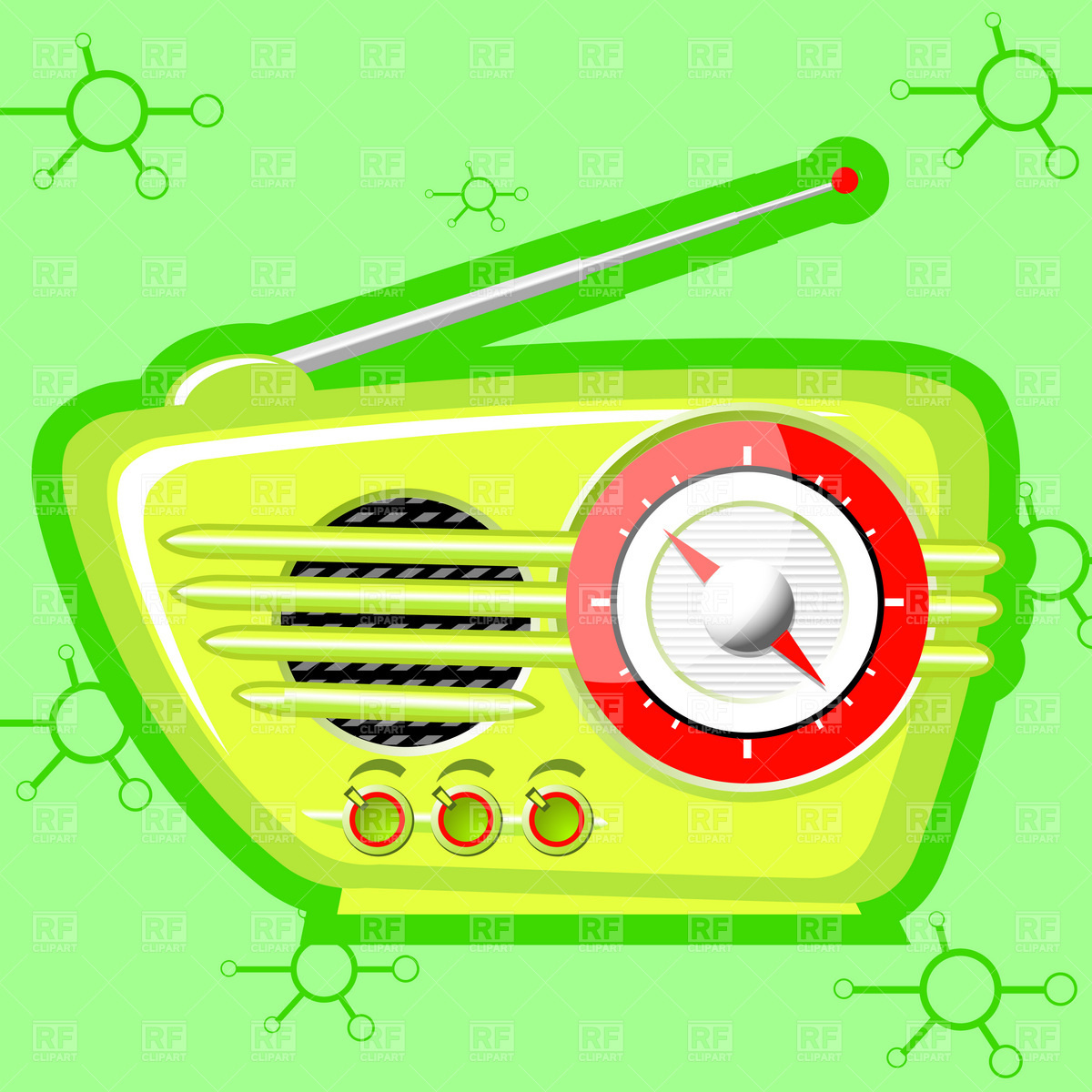 Retro radio Vector Image #1862.