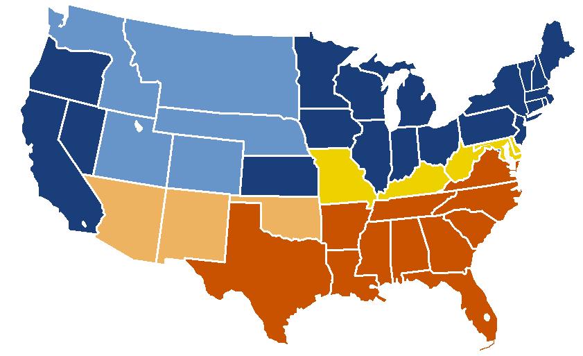 Confederacy Clipart Map.