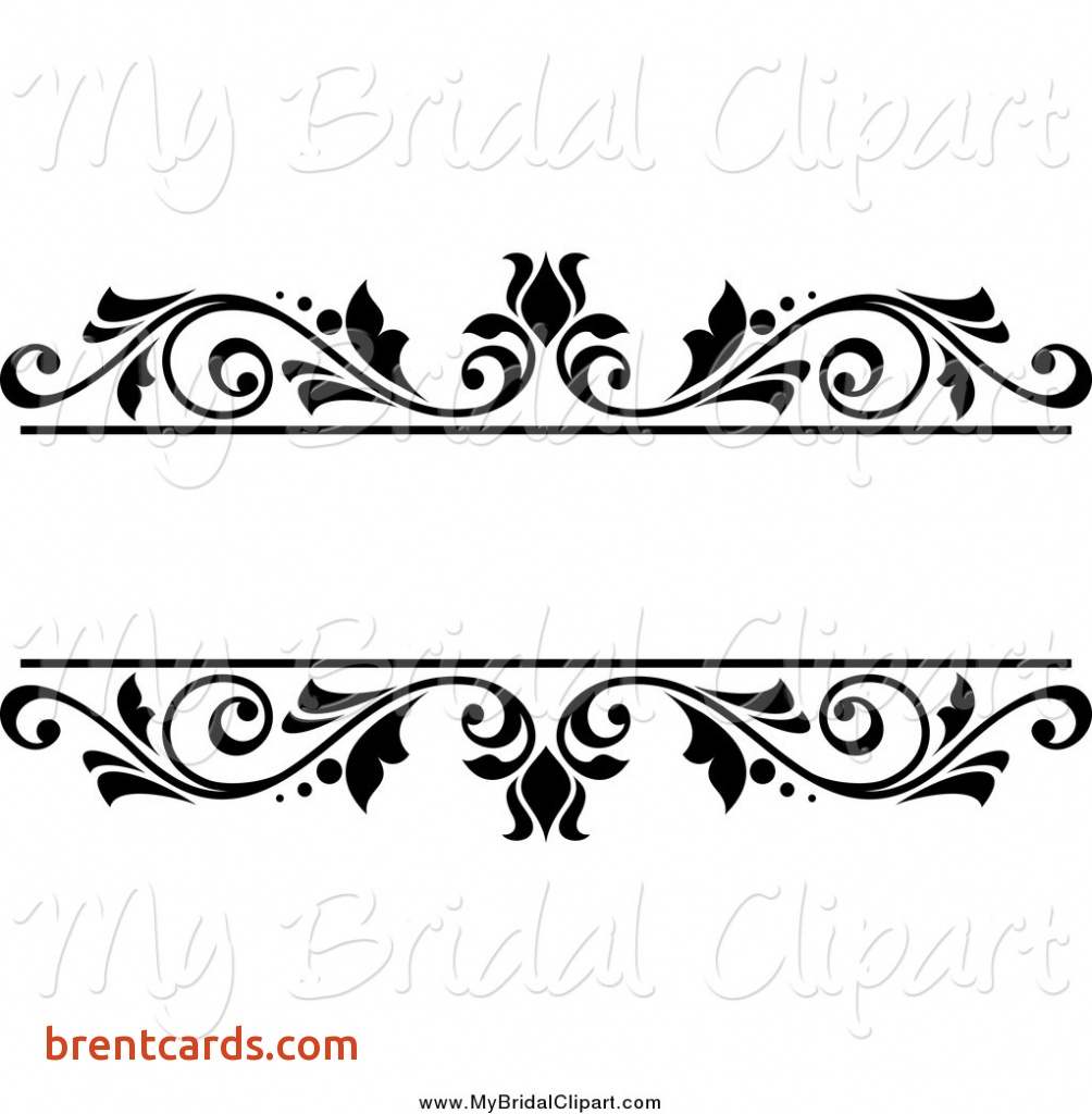 Top wedding card designs Bridal Clipart of a Black and White Floral.