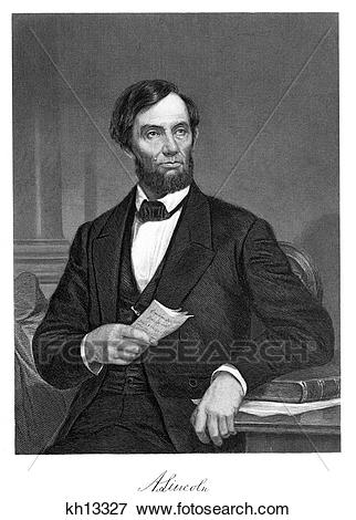 Picture of 1800S 1860S 1865 Portrait President Abe Abraham Lincoln.
