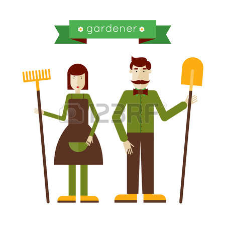 1,866 Gardening Woman Stock Vector Illustration And Royalty Free.