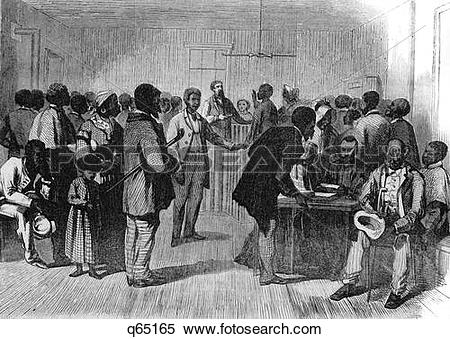 Stock Image of 1800 1860S Interior Of Freedmen'S Bureau Richmond.