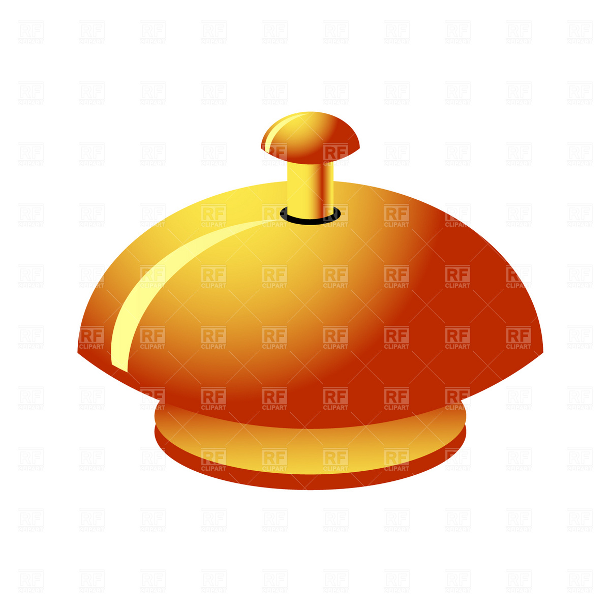 Reception service bell Vector Image #1866.