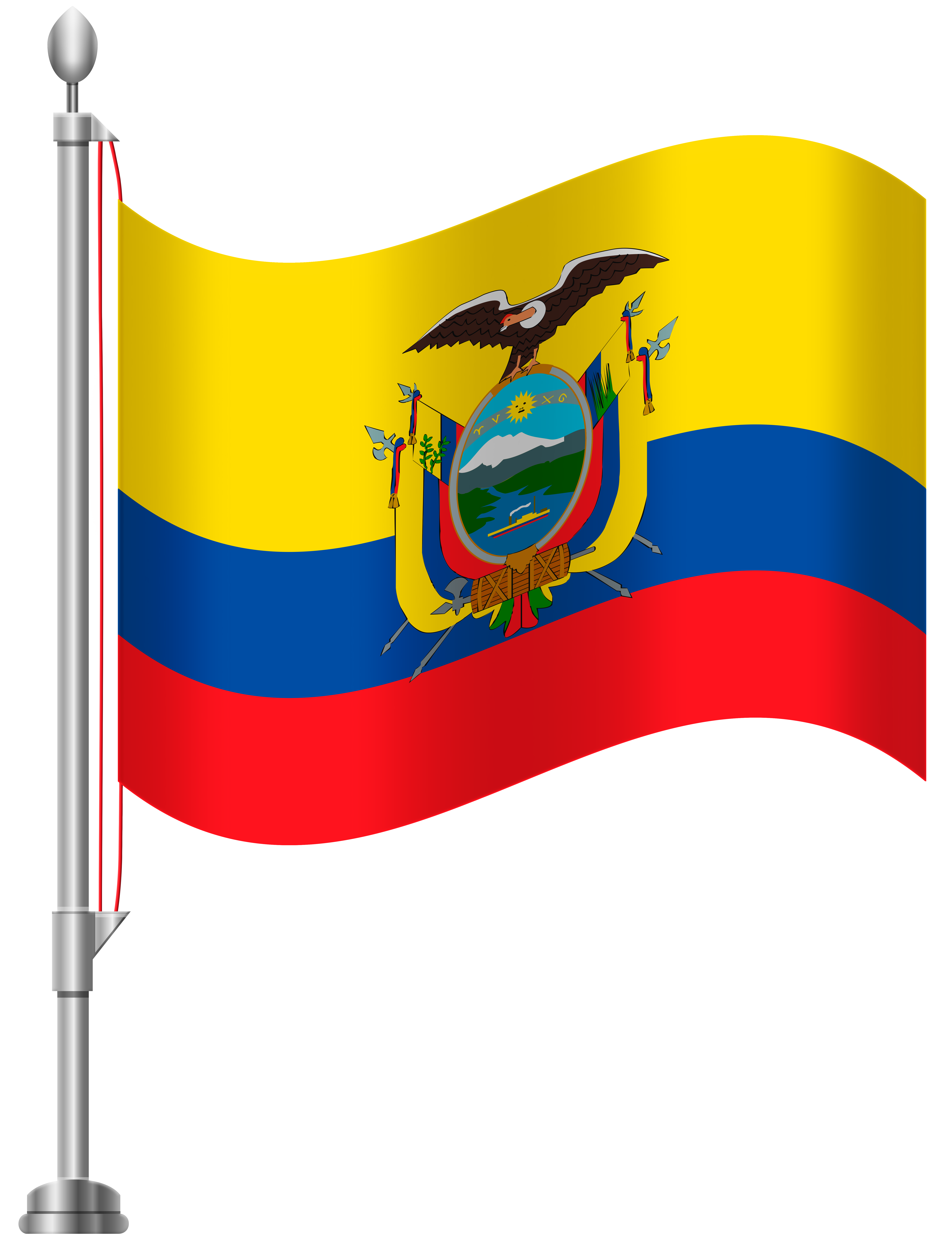 Ecuador Flag PNG Clip Art.