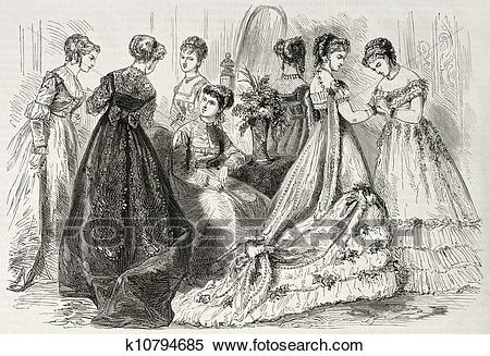Stock Illustration of Fashion 1868 k10794685.