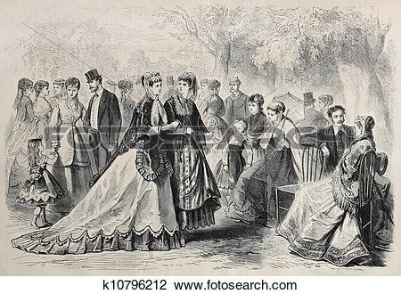 Clip Art of Fashion 1868 k10796212.