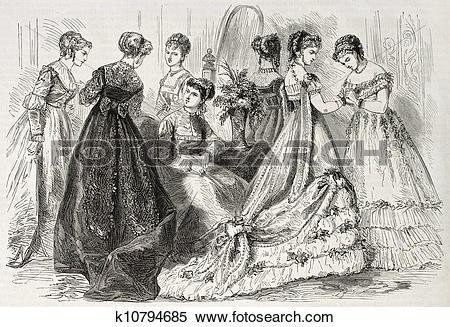 Stock Illustration of Fashion 1868 k10794685.