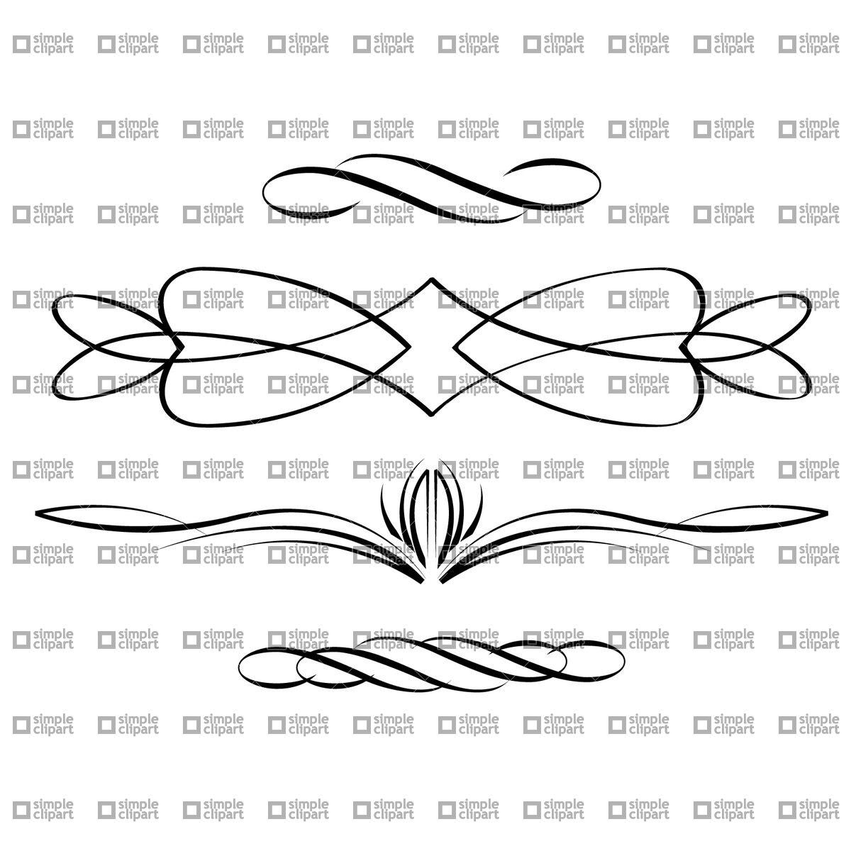 Calligraphic scrolls Vector Image #1869.