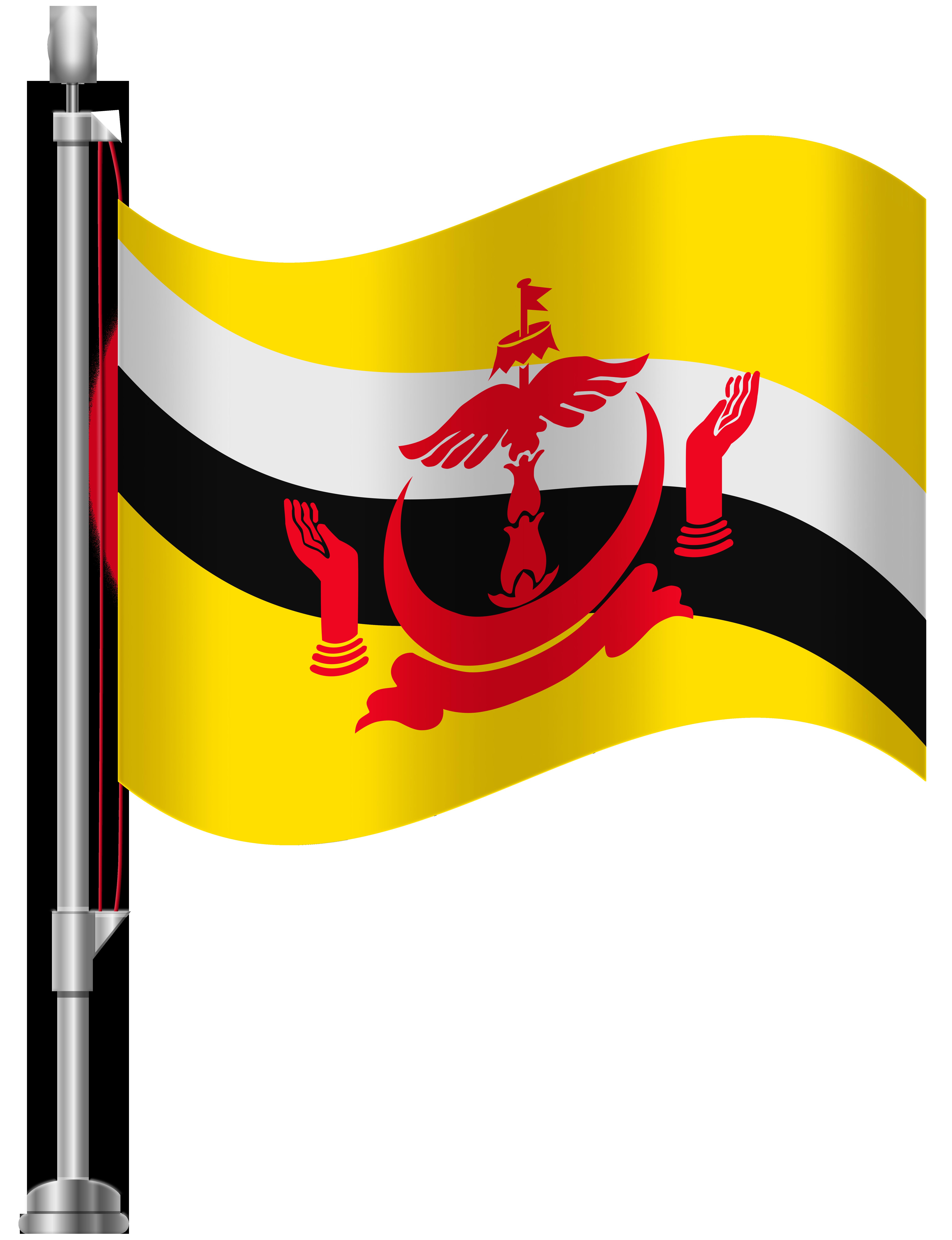 Brunei Flag PNG Clip Art.