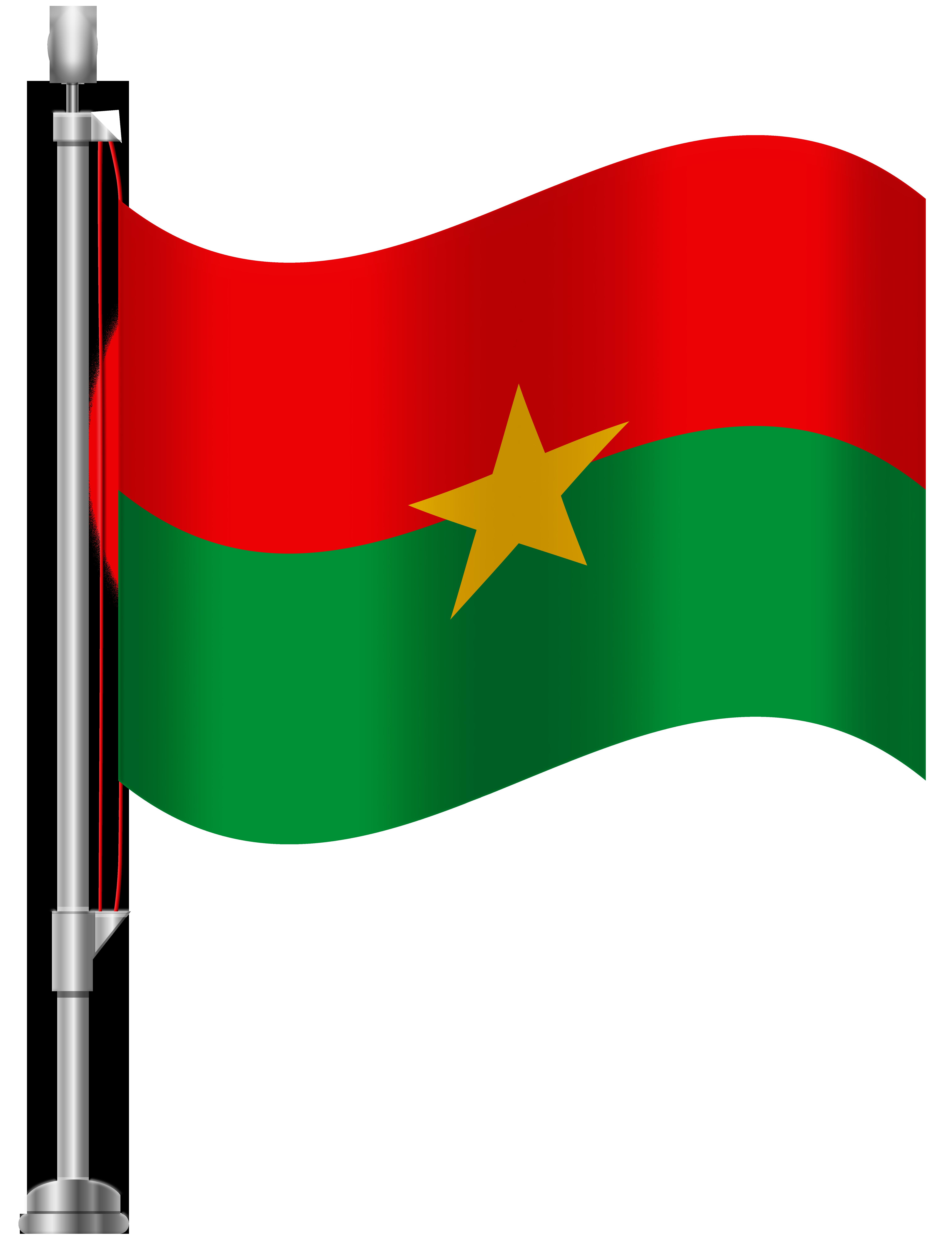 Burkina Faso Flag PNG Clip Art.