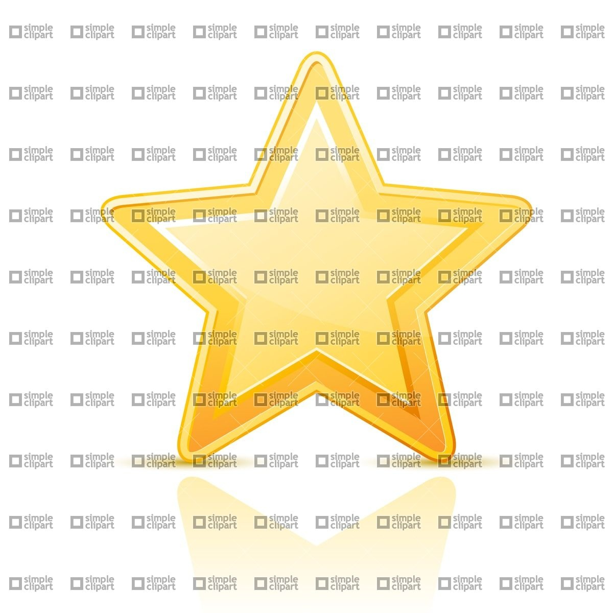 Golden star Icon Vector Image #1870.