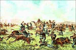 Custer Massacre At Big Horn Montana June 25 1876 Clip Art Download.