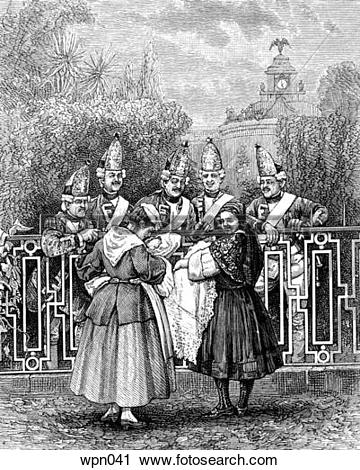 Clipart of Prussian Emperor`s Grenadiers, c. 1878 wpn041.