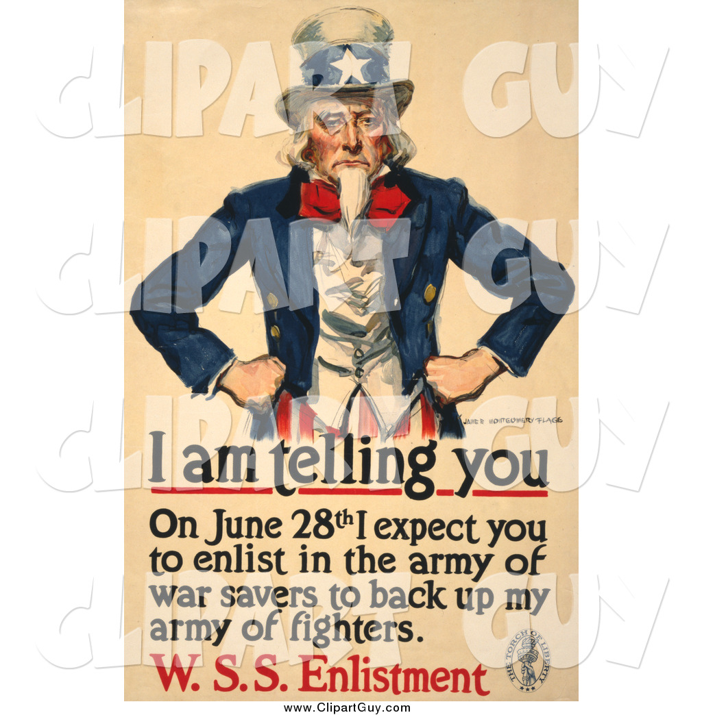 Clip Art of a Uncle Sam.