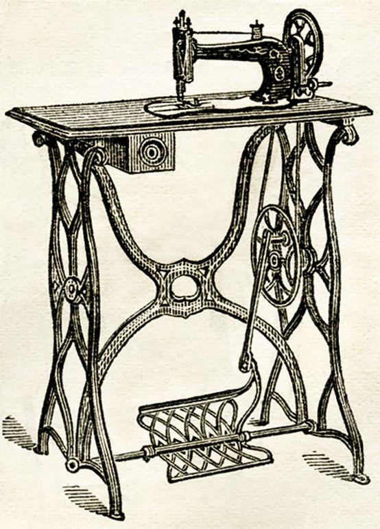 Old Design Shop ~ free digital image: vintage sewing machine 1878.
