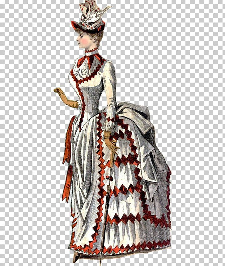Victorian Era 1880s Bustle Victorian Fashion Clothing PNG.