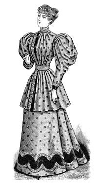 Free Victorian Dresses Clipart.