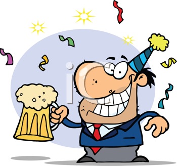 Office Birthday Beer Clipart.