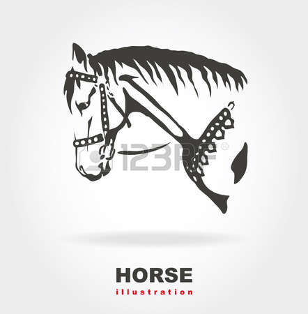 1,881 Horse Portrait Stock Vector Illustration And Royalty Free.