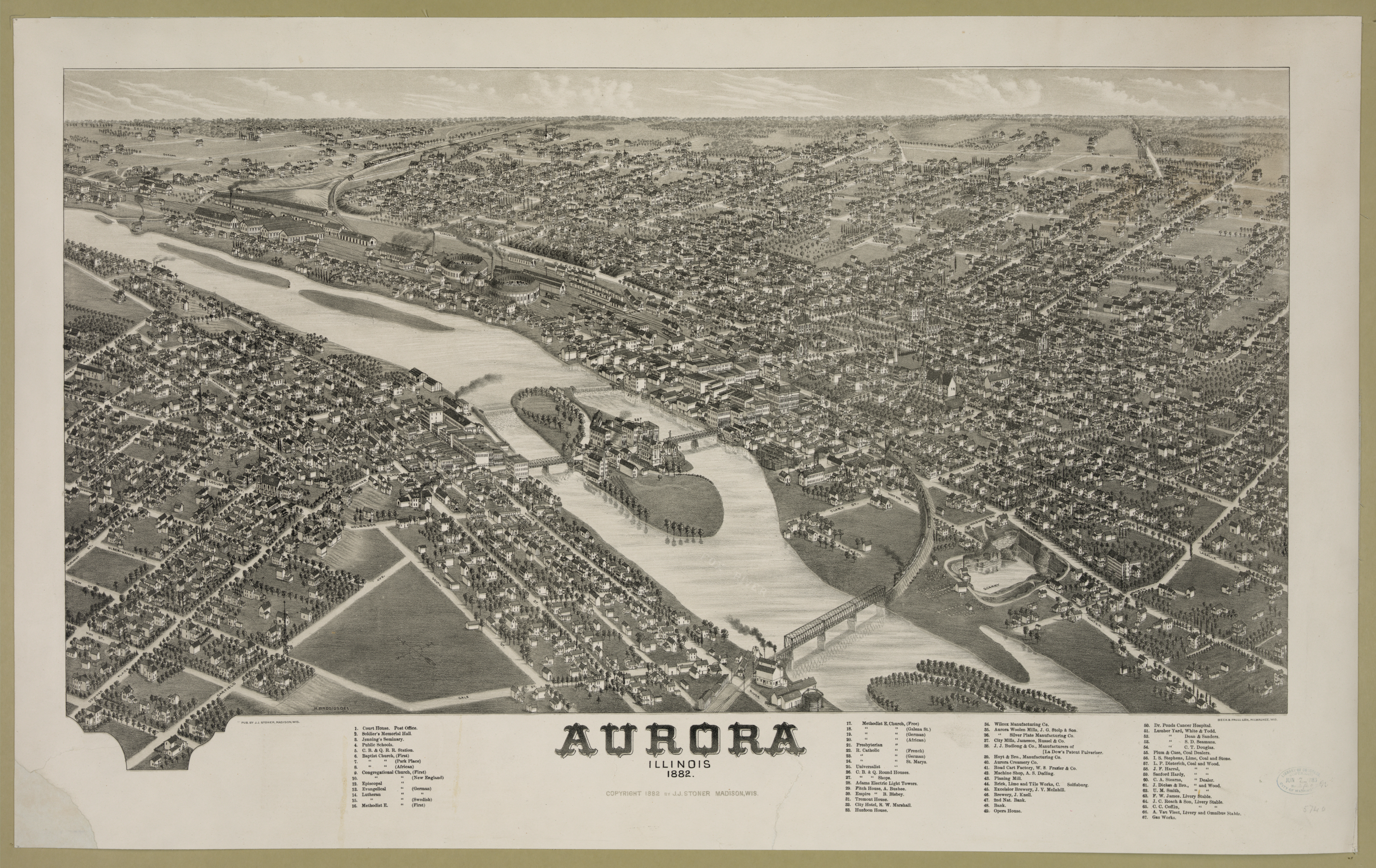 Aurora, Illinois 1882.