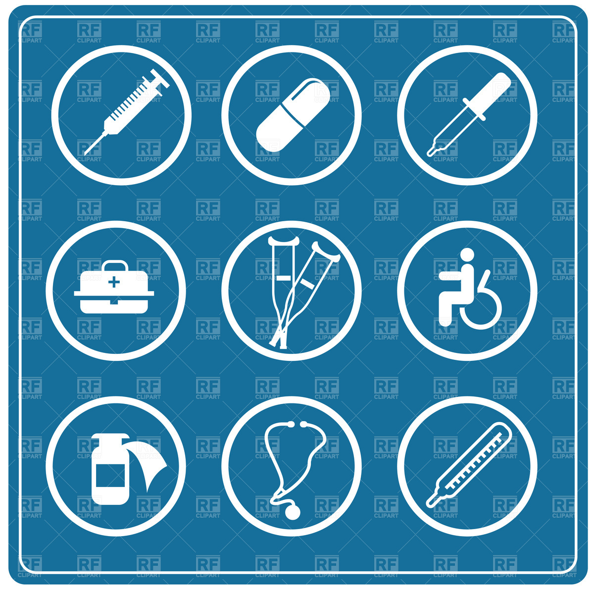 Medicine icon set Vector Image of Healthcare, Medical © good #1883.