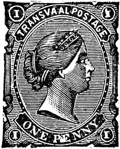 Cape of Good Hope One Penny Revenue Stamp, 1883.