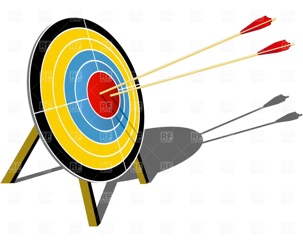 Archery target hit with arrow Vector Image #1884.