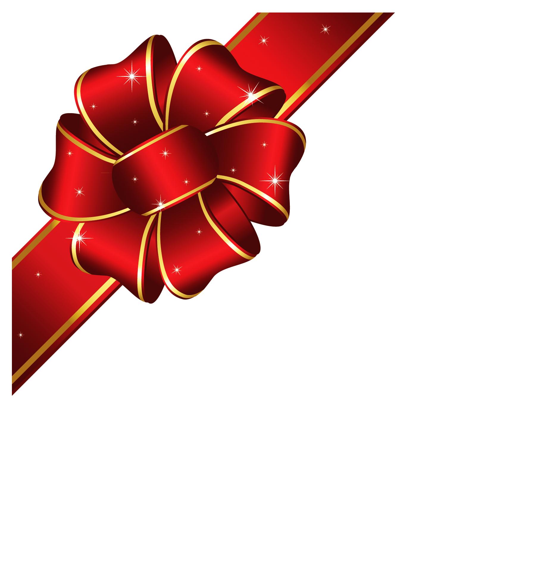 Christmas red ribbon clip art.