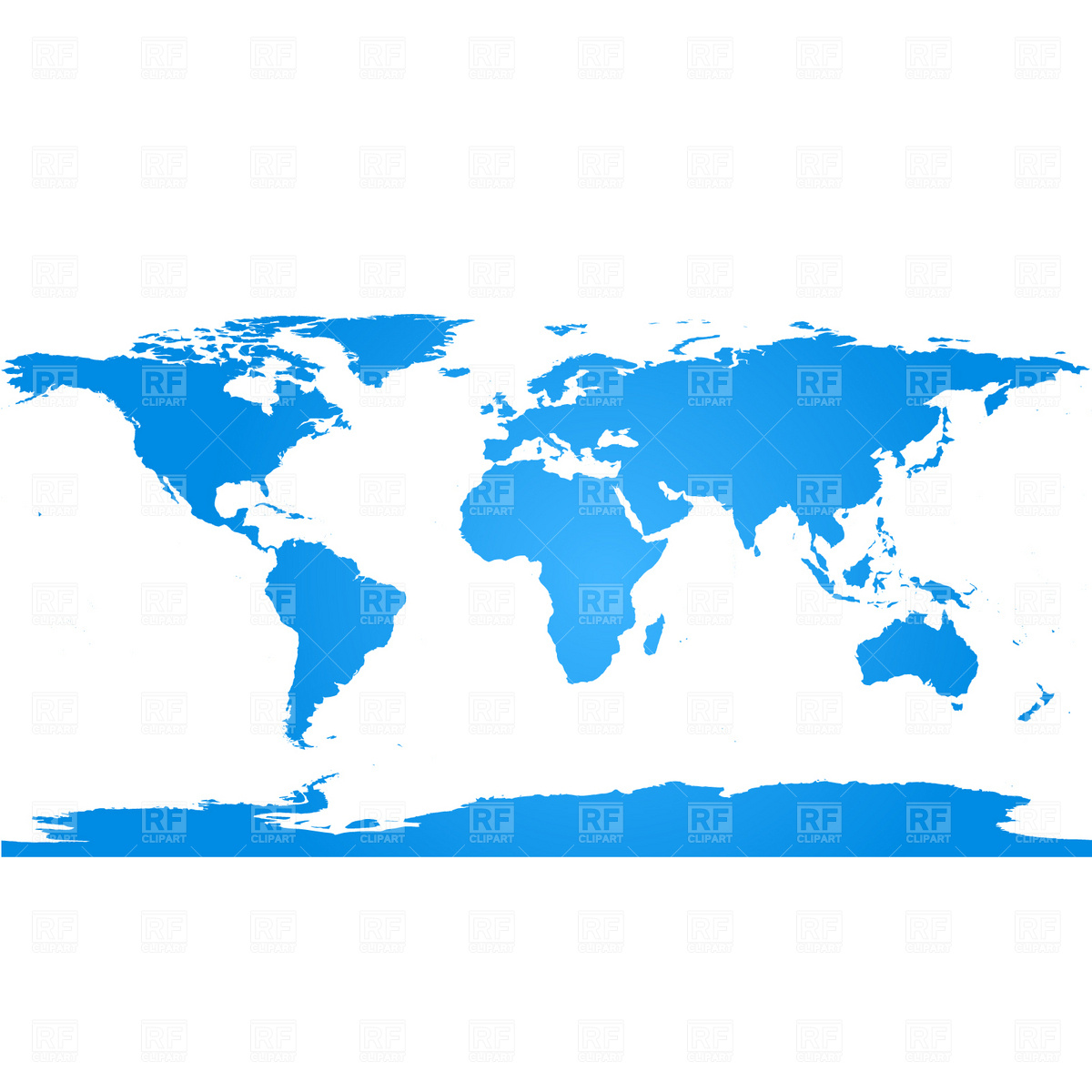 World map with continents Vector Image #1888.