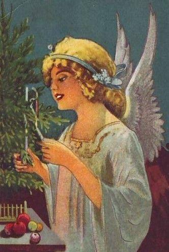 free angel postcard image.