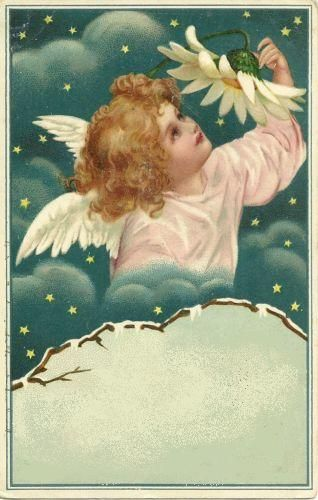 free angel postcard image.