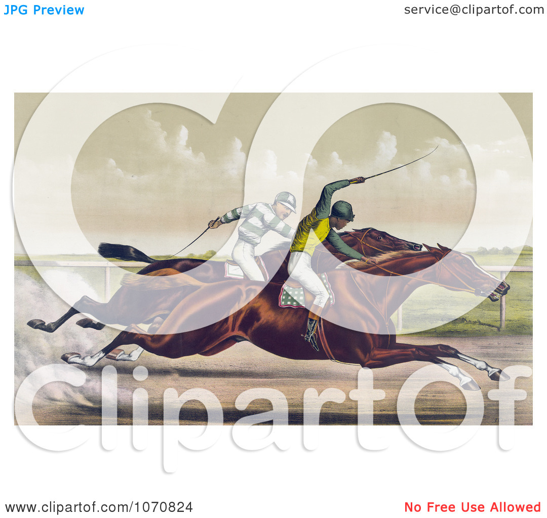 Illustration of a Horse Race Between Salvator And Tenny At.