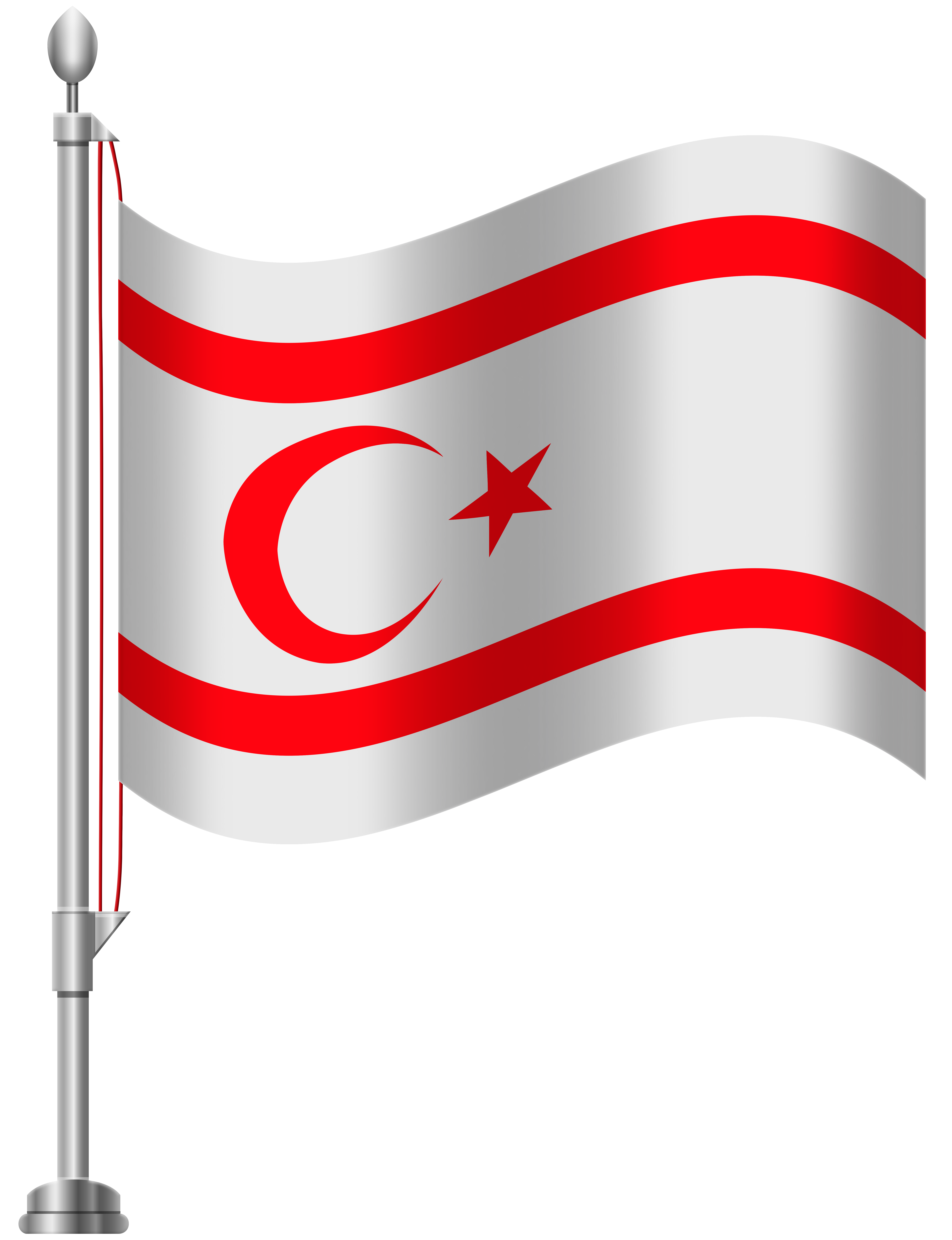 Northern Cyprus Flag PNG Clip Art.